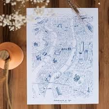 Affiche 30 x 40 cms 9 arrondissements lyon