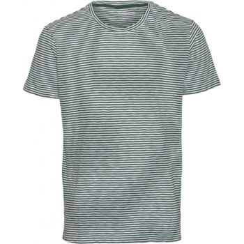 Tee-shirt raye vert et blanc alder