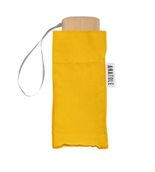 Mini parapluie jaune moutarde – micro & solide – martin