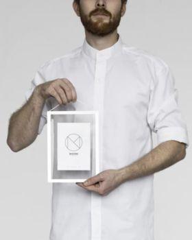 Cadre a5 aluminium blanc