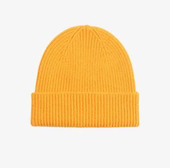 Bonnet laine merinos burned yellow