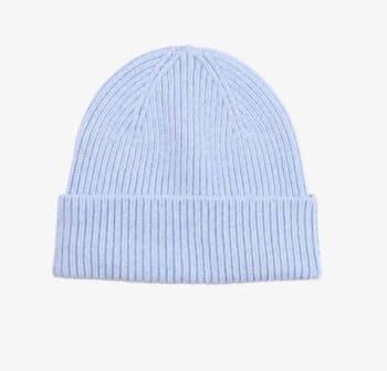 Bonnet laine merinos polar blue