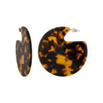 Boucles d'oreilles machete pleines tortoise orange