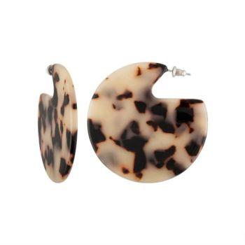 Boucles d'oreilles machete pleines tortoise blanc
