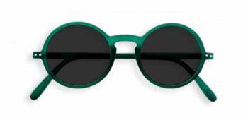 Lunettes forme g vert cristal verres gris