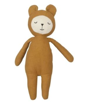 Doudou ours ocre