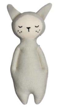 Petit doudou lapin gris clair