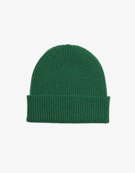 Bonnet laine merinos kelly green
