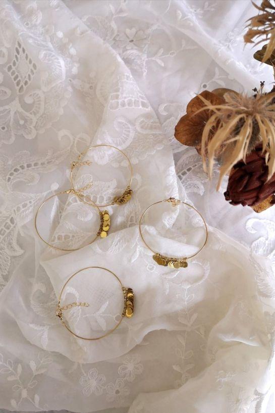 Bracelet Annabel Pastilles Laiton