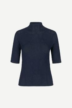Tee-shirt À dentelles lene bleu nuit