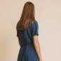Robe Karen Bleu En Chanvre