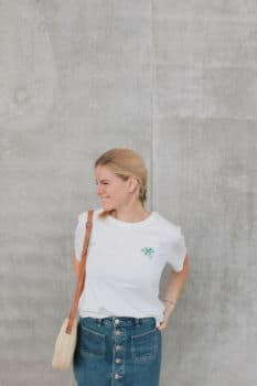 Tee-shirt pilea blanc