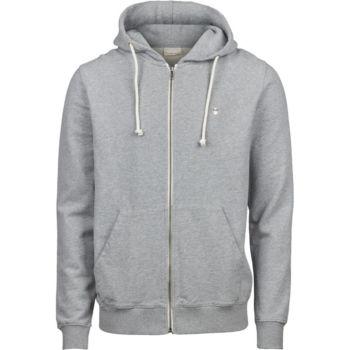 Sweat capuche et zipper gris fonce