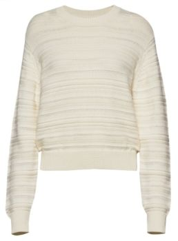 Pull col rond lily white