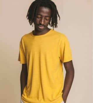 Tee-shirt moutarde en chanvre