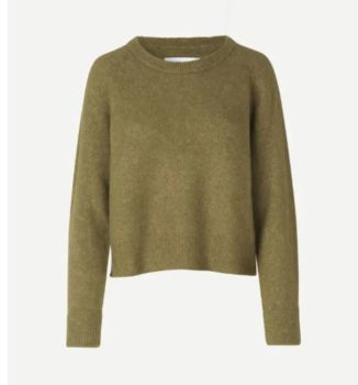 Pull col rond nor khaki