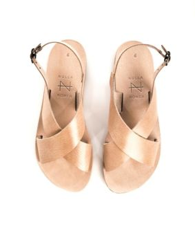 Sandales no toe strap natural