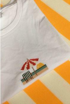 T shirt parasol blanc