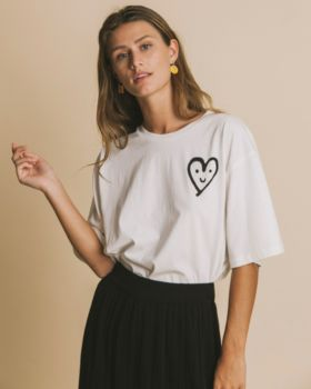 Tee-shirt smiling heart