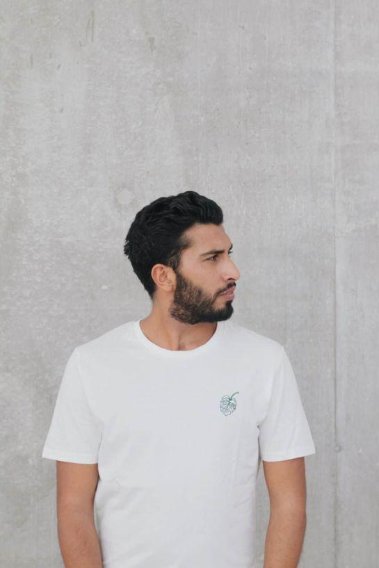 Tee Shirt Monstera Blanc