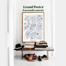 Poster 50 x 70 9 arrondissements de lyon