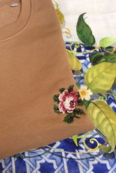Sweat-shirt rose camel