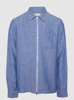 Surchemise rayee et zipper bleu olympia