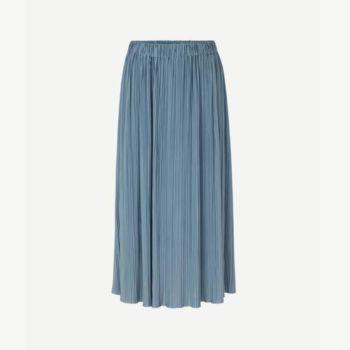 Jupe mi-longue uma bleu mirage