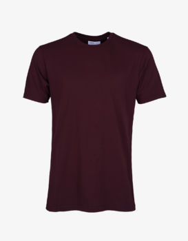 Tee shirt oxblood red