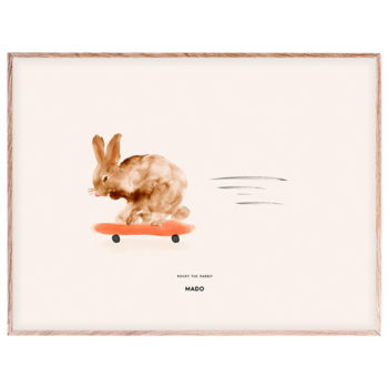 Poster rocky the rabbit 30 x 40cms