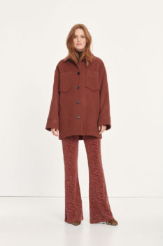 Manteau dione cannelle