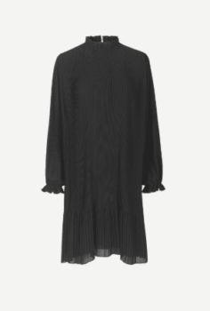 Robe plissée à manches longues mindy black taille xs