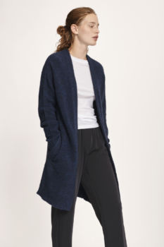 Cardigan nor 7355 dark blue mélange
