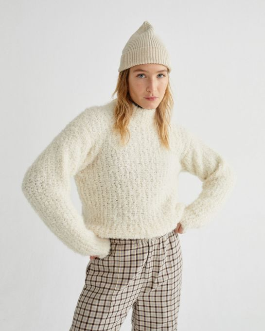 Pull col montant Trash Cotys White