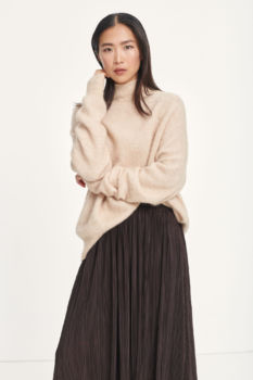 Pull col montant jaci - beige