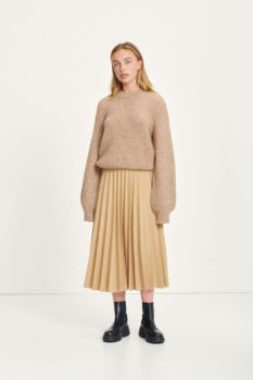 Pull thelma col montant - camel brown