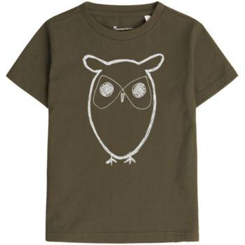 Tee-shirt hibou - kaki