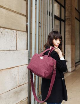 City bag bandoulière sauval scarlett red