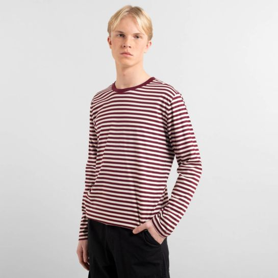T-shirt manches longues «hasle» – Burgundy taille L