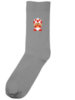 Chaussettes super mario toad