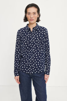 Chemise milly - blue doodle