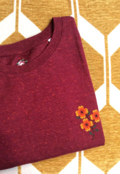 Tee-shirt cosmos - rouge chiné