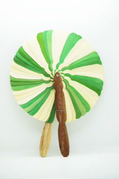 Eventail cambodgien taille moyenne, vert pomme